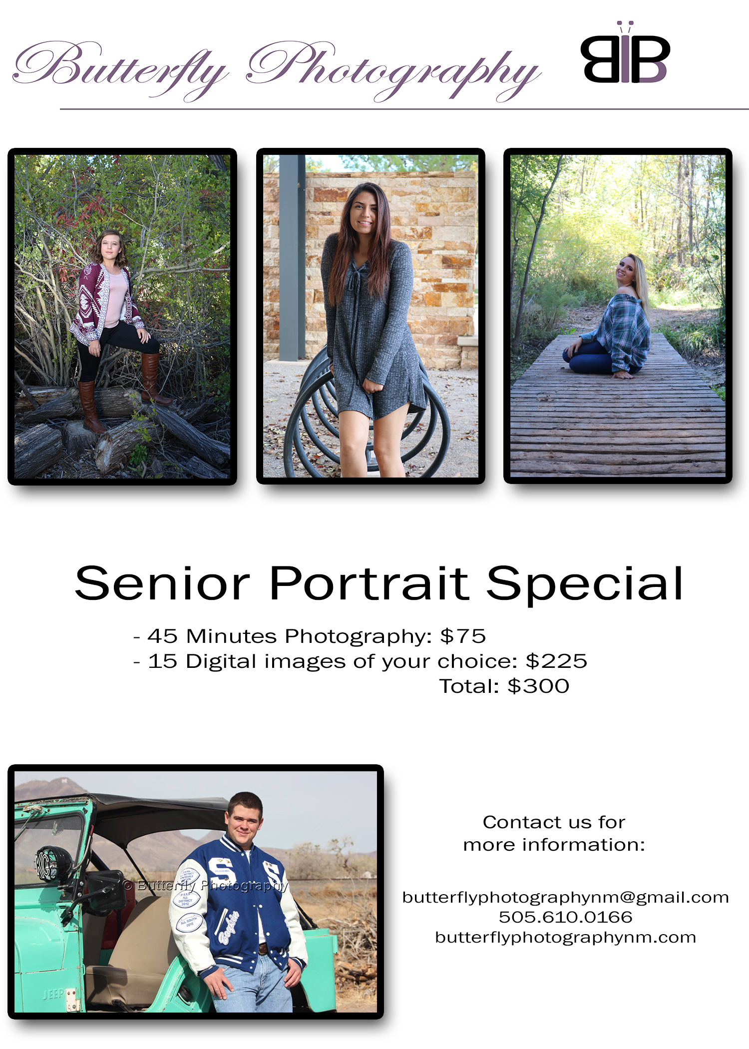 Senior Portraits Flyer
